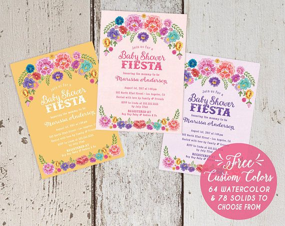 Mexican fiesta theme baby shower invitations spanish floral blush mexican fiesta baby shower invitations free custom colors gender neutral invites spanish floral filmwisefo Image collections
