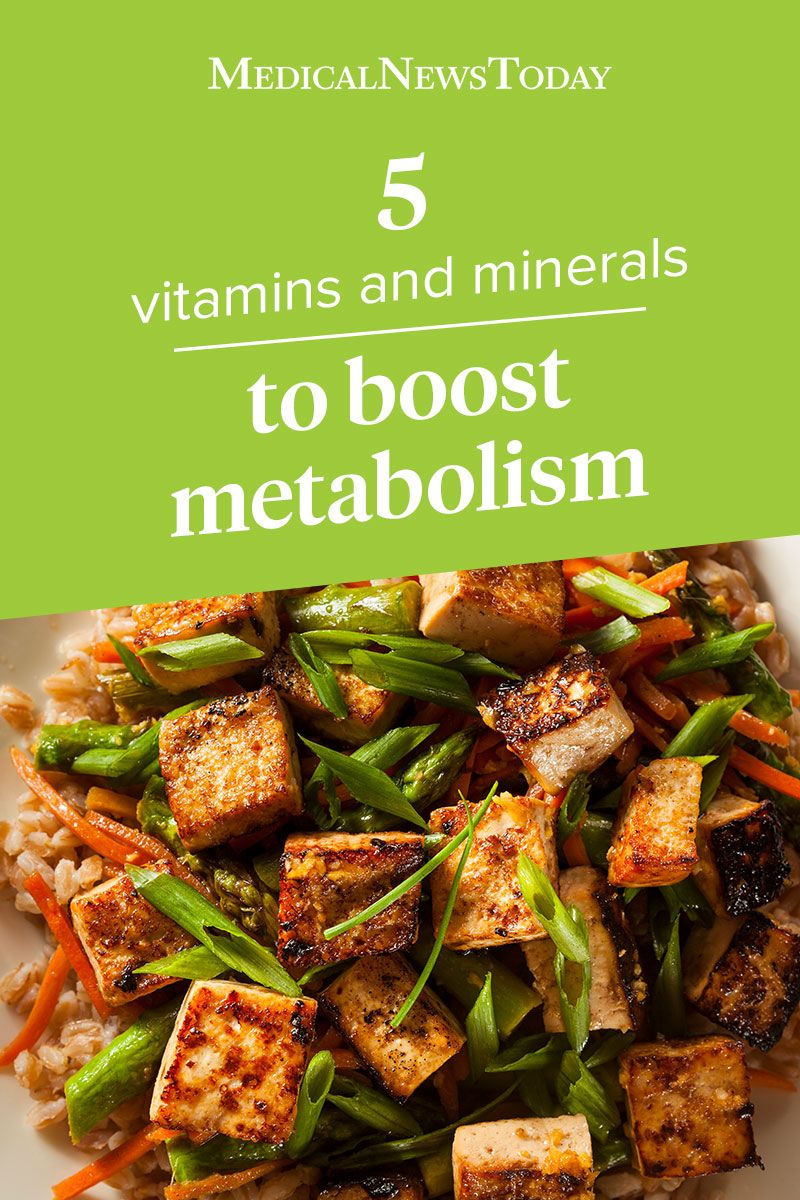 some vitamins and minerals may help keep the metabolism working