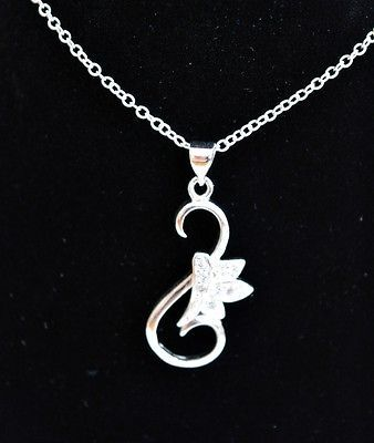 UK-Fashion-Sterling-Silver-Necklace-Pendant-Necklace-Lover-Gift-Box