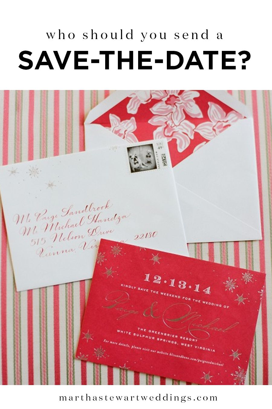Who Should You Send a Save-the-Date? | Martha Stewart Weddings ...