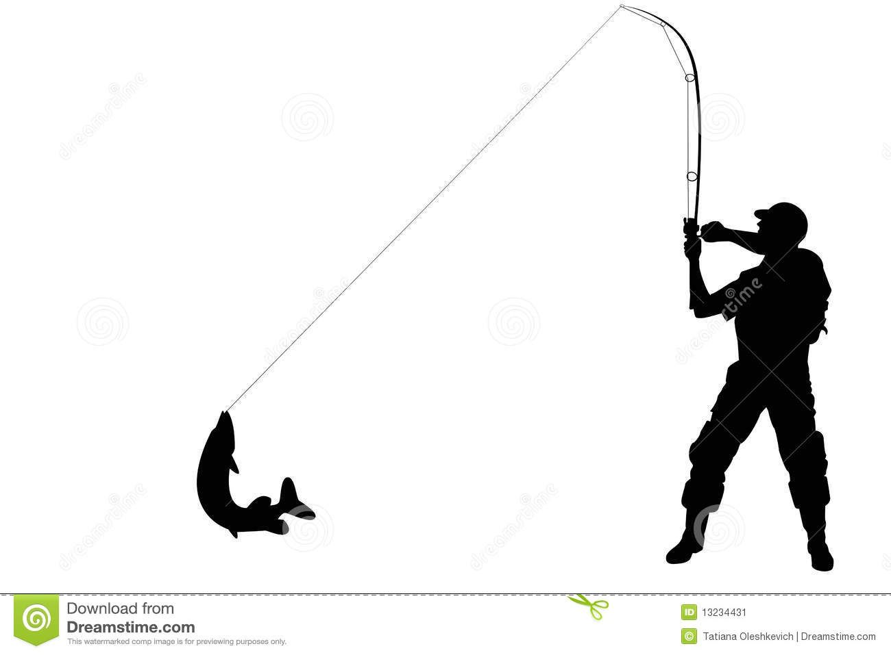 Man Fishing Silhouette Silhouette Of A Fisherman With Fish Silhouette Fly Fishing Tattoo Fish Art