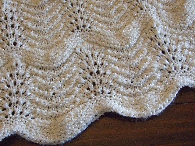 Free Crochet Baby Blanket Patterns | Feather and fan baby blanket pattern Kaye Smith
