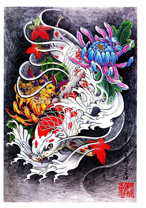 Aliexpress Com Buy Pdf Format Tattoo Book 60pages Beautiful Koi Fish Flower Tattoo Designs Book Tattoo Flash Sketchbo Koi Tattoo Koi Art Japanese Tattoo Art