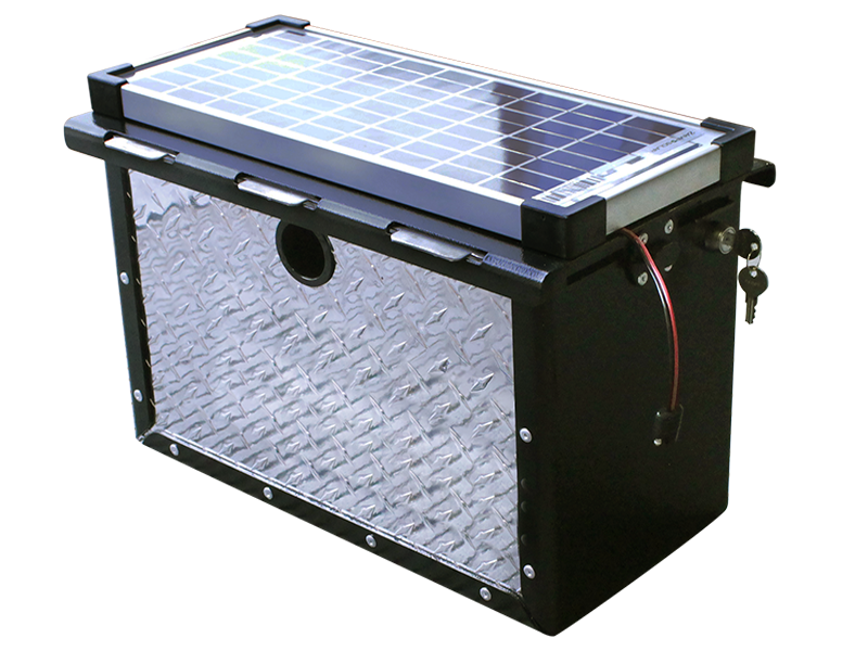 Truck Camper Bumper And Rv Battery Security Powerarmor Locking Storage Battery Box Torklift International Rv Battery Battery Storage Rv
