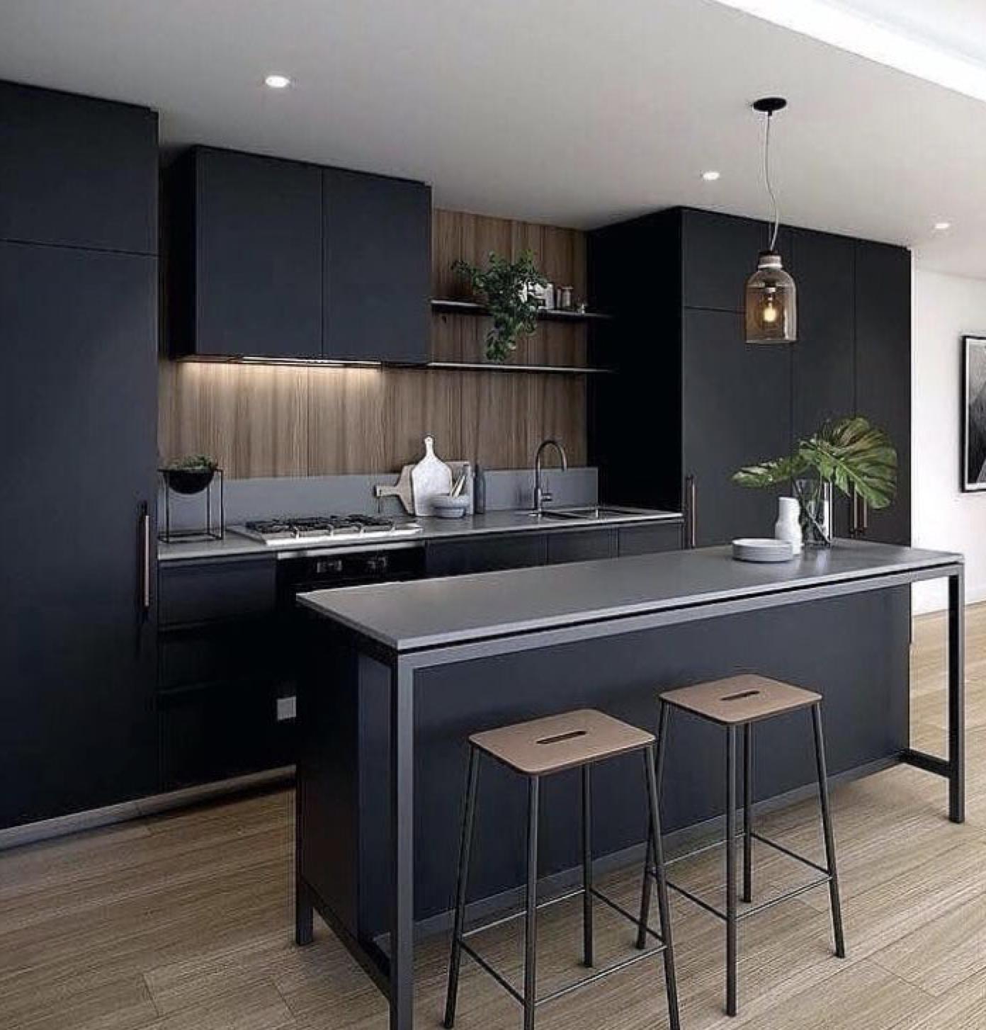 Kitchen in 9   Kitchen decor modern, Black kitchen decor ...