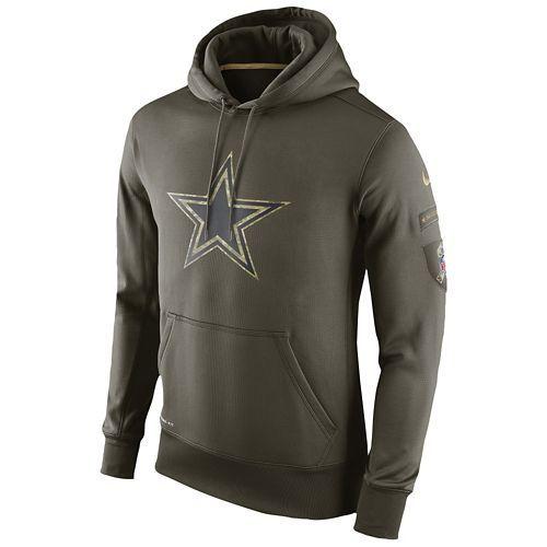 sale retailer d31f2 d1845 Nike NFL STS Camo Logo KO Pull-Over Hoodie - Men's | Dallas ...