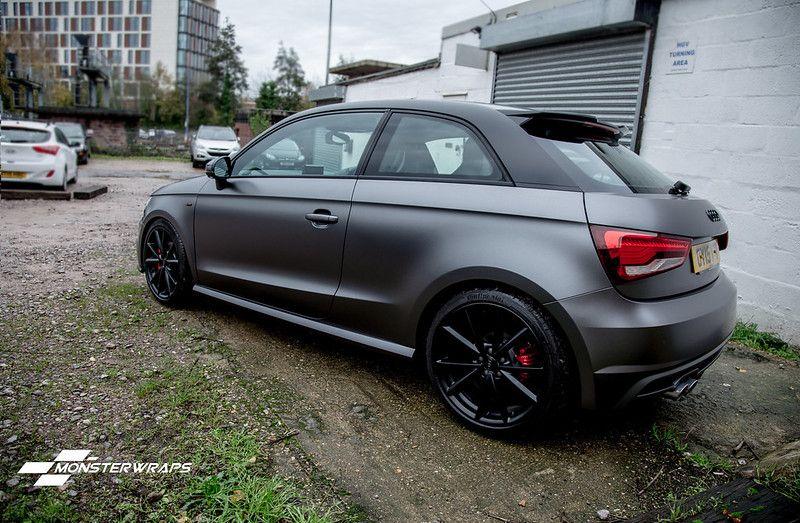 Audi A1 Satin Grey Black Full Wrap Audi A1 Audi Cars Chevrolet Camaro Zl1