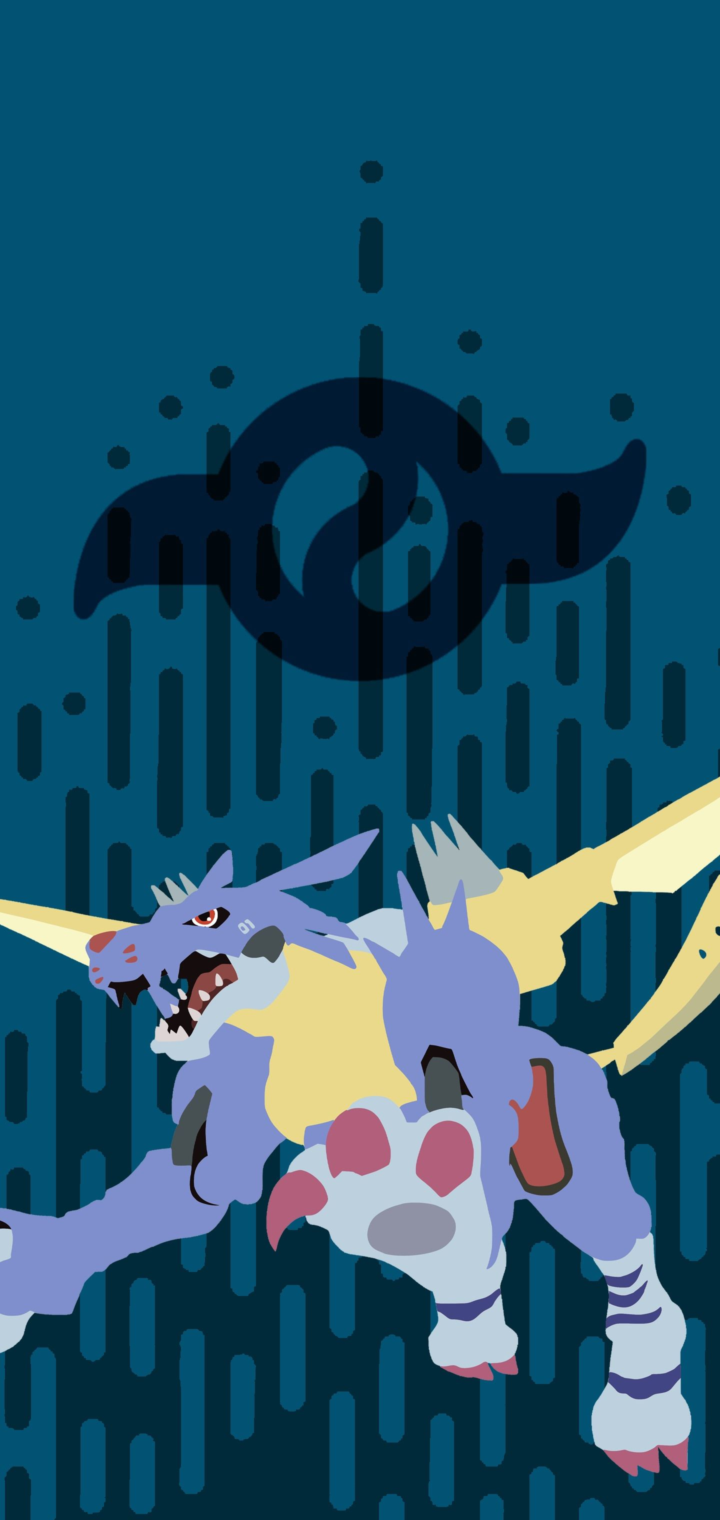 Wallpaper Metalgarurumon In Digimon Wallpaper Digimon Crests Digimon Digital Monsters