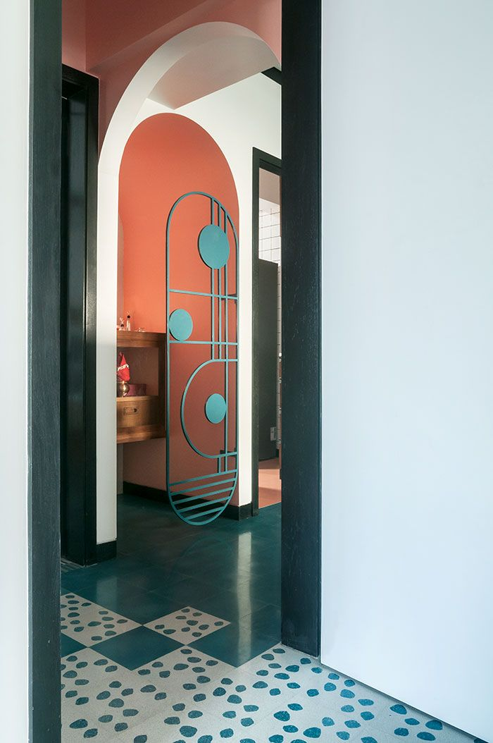 Muselab tiles an apartment in mumbai with st century art deco sophistication also rh pinterest