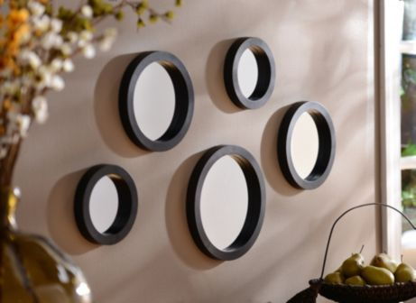 Circle Mirror Set Of 5 Circle Mirror Mirror Decor Mirror Wall Decor