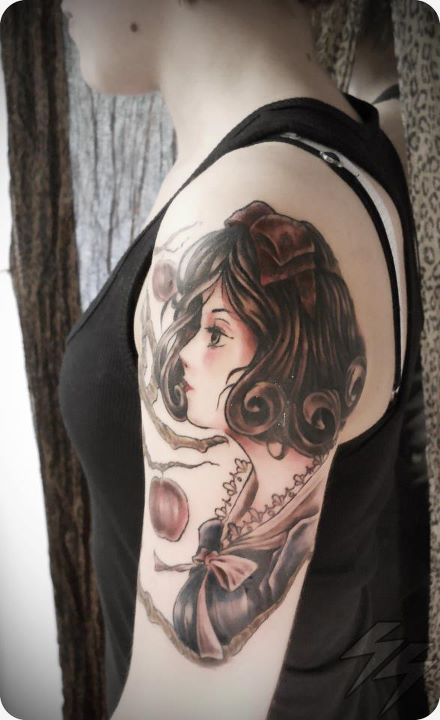 Snow White done by SiSanti at Think Tattoo Parlour, UY https://www.facebook.com/thinktattooparlour , cheers