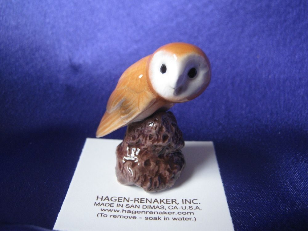 Hagen Renaker Barn Owl Figurine Ceramic Miniature 03196