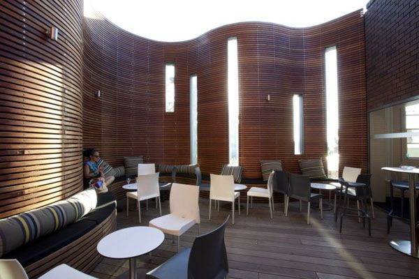 Wood Wall Design brown wood walls constructedwooden panels attached on curved