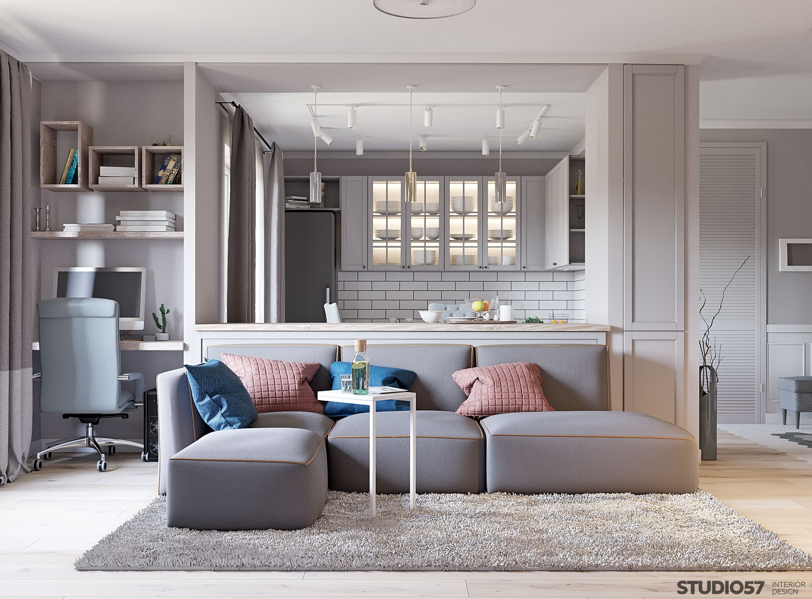 Clic Style With White Furniture For An Apartment On Lozhinskaya Street The Design Of Area 75 Square Meters In