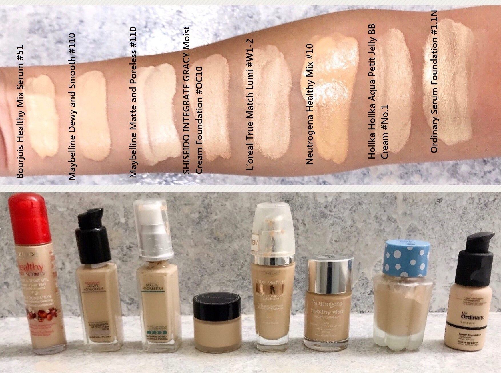 Pale Foundation Mega Swatch Review And Comparison ǀ Light To