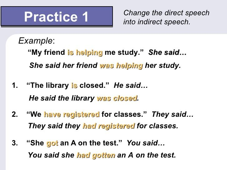 Image result for direct and indirect speech Direct and Indirect - example speech