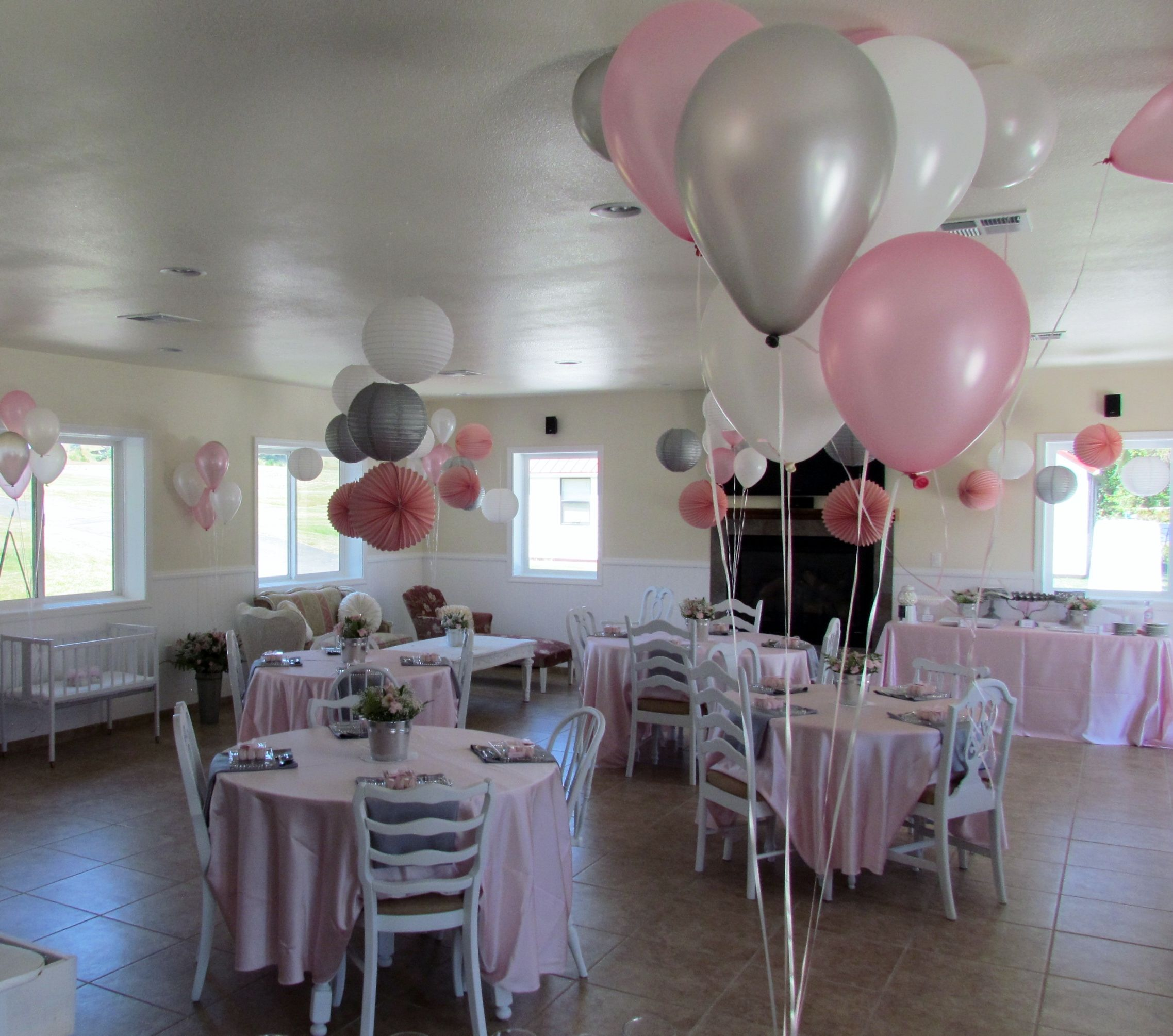 Pink And Gray Baby Shower