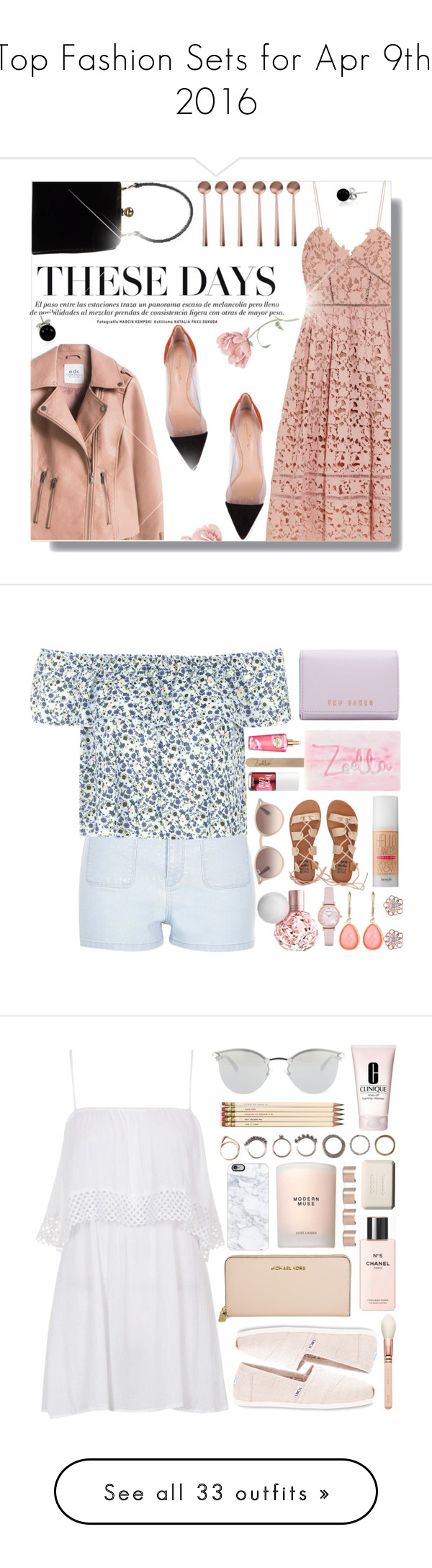 """""""Top Fashion Sets for Apr 9th, 2016"""" by polyvore ❤ liked on Polyvore featuring self-portrait, Gianvito Rossi, Dolce&Gabbana, canvas, Bling Jewelry, River Island, Topshop, Ted Baker, Victoria's Secret and Benefit"""