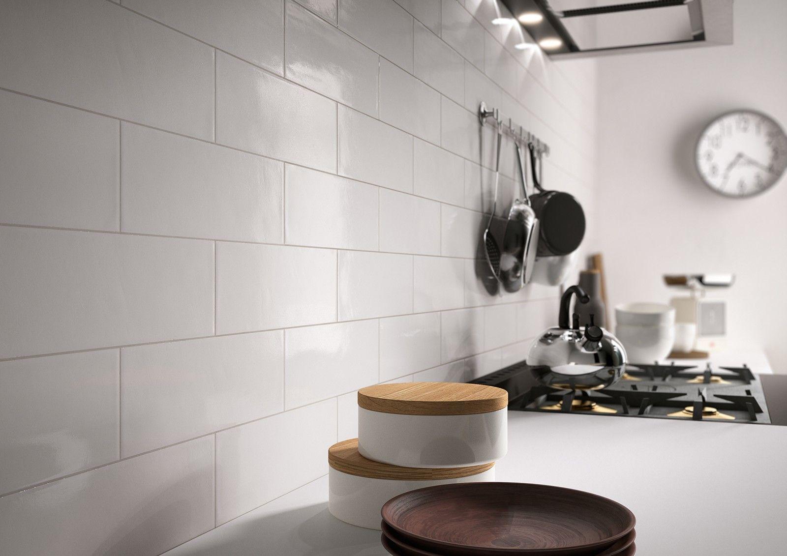 Ragno Brick Glossy White 10x30 Cm R4gj Porcelain Stoneware One Colour 10x30 On Bathroom39 Com At 23 Euro Brick Tiles Bathroom Wall Tile Glazed Walls