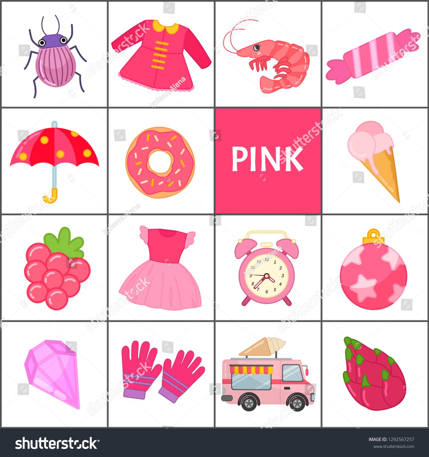 Learn The Primary Colors Pink Different Objects In Pink Color Educational Material For Children And Todd In 2021 Primary Colors Social Media Design Graphics Objects [ 1600 x 1500 Pixel ]