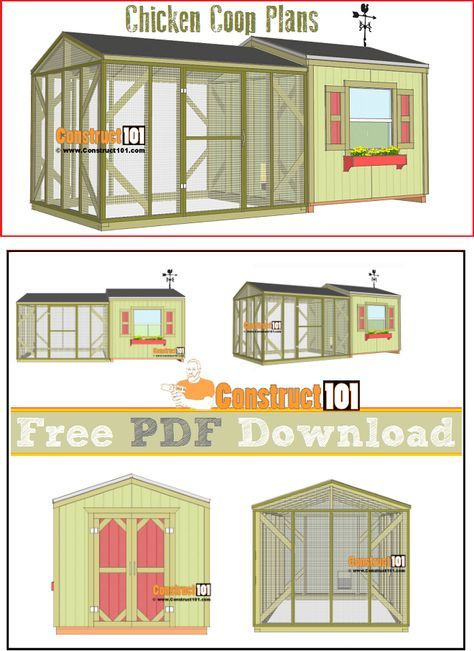 Large Chicken Coop Plans Pdf Download Construct101 Large