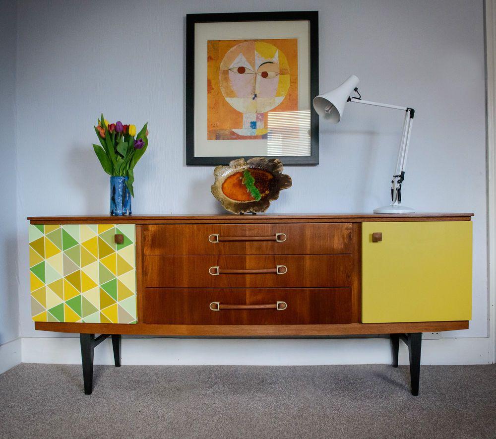 Retro Vintage Teak Mid Century Danish Style Chest Sideboard Era
