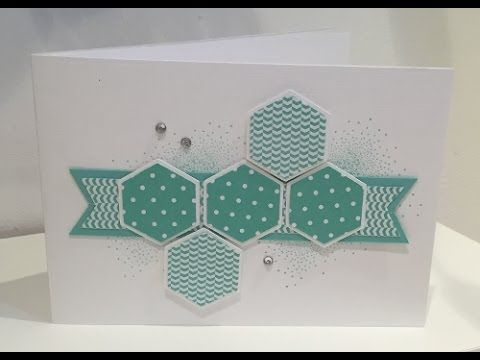 Stampin Up and ScanNCut Hexagon Design Card