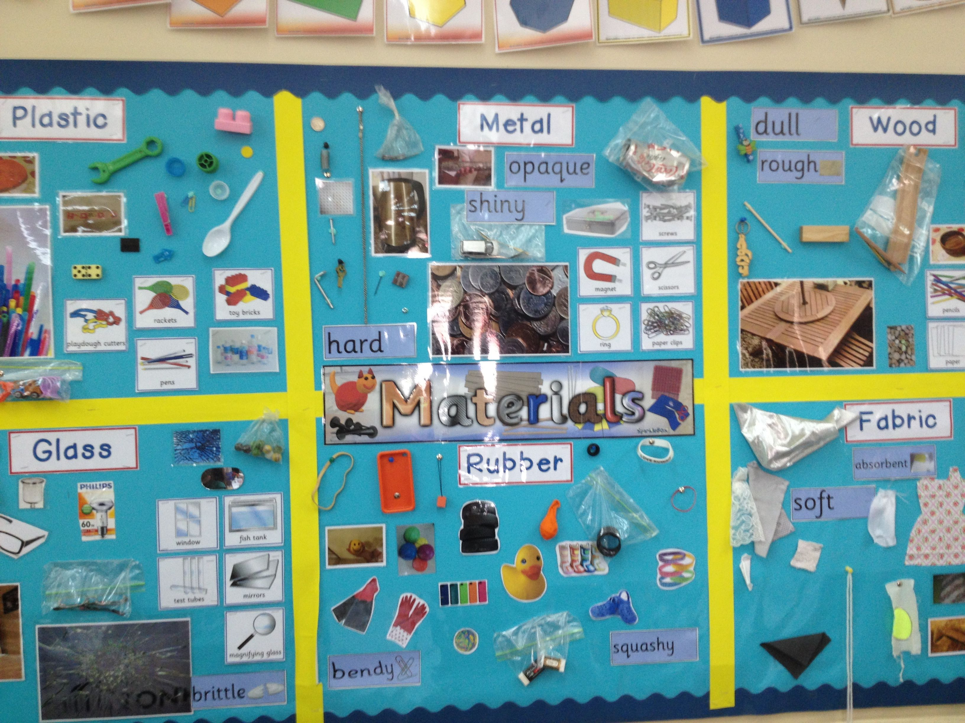 Classroom Ideas Ks1 : Materials display my displays pinterest