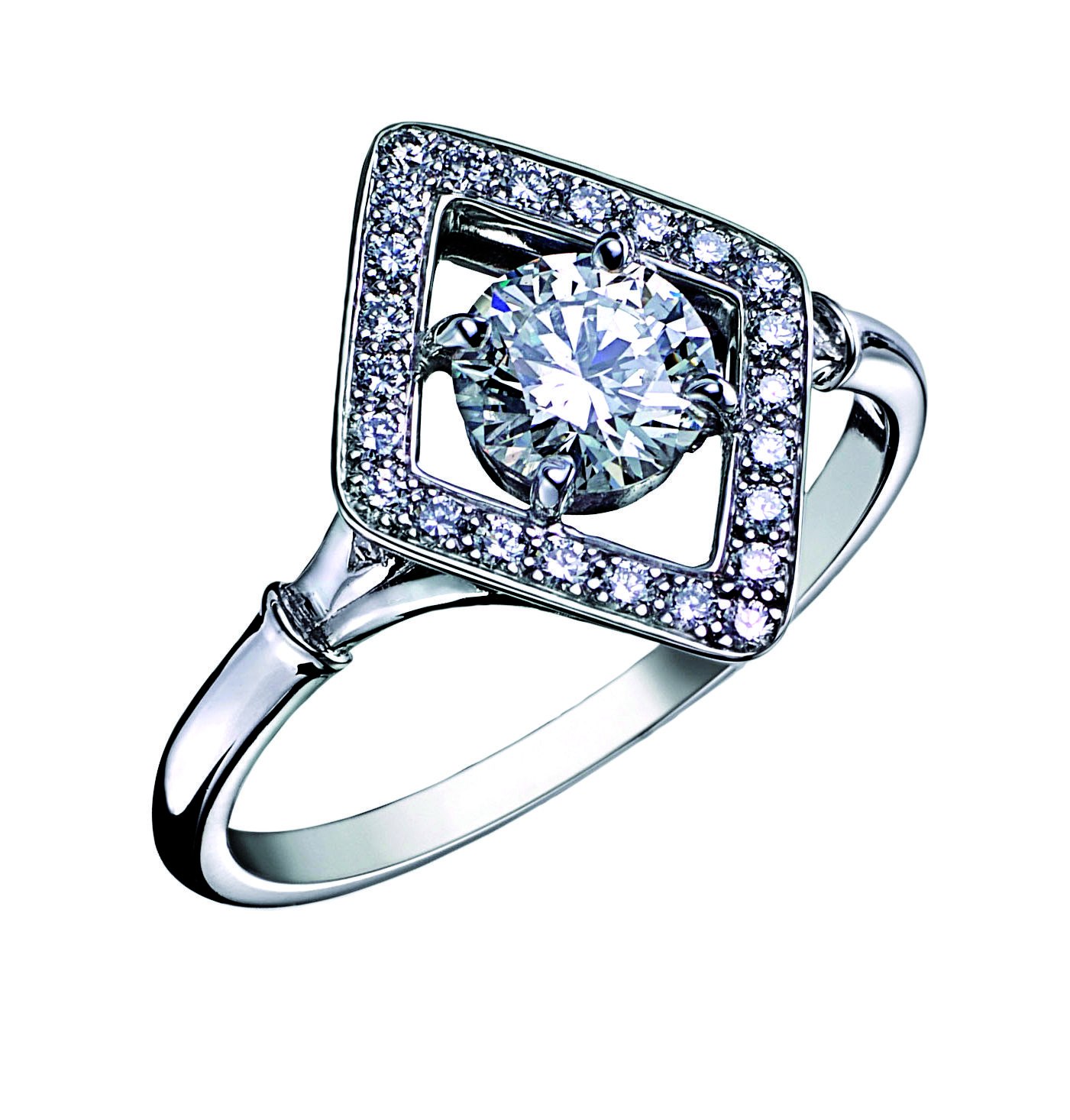 Bague Art Deco ELVIRE Or Blanc et Diamants. Bague ancienne. #bague #artdeco #orblanc #diamants #ancienne #luxe #bijoux #valeriedanenberg