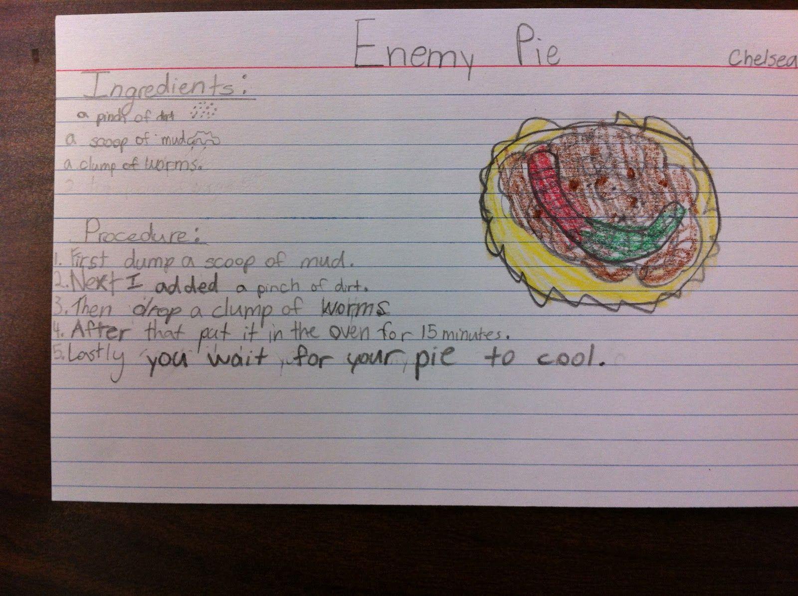 Enemy Pie Friendship Pies