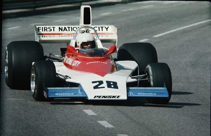 1975 Monaco Grand Prix, Monte Carlo : Mark Donohue, Penske PC1 #1, Penske Cars, Practice. (ph: Reddit)