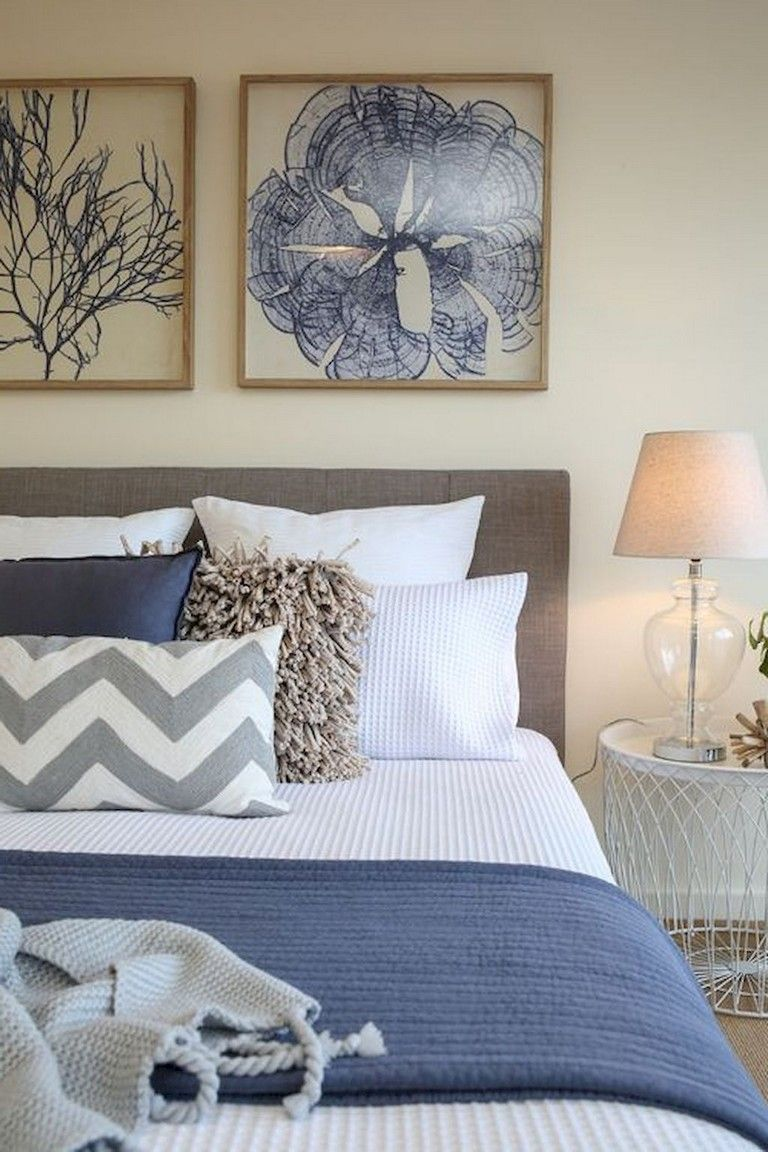 37 Amazing Navy Master Bedroom Decor Ideas Coastal Bedroom Decorating Luxury Bedroom Inspiration Master Bedrooms Decor