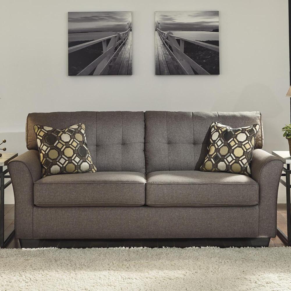Signature Design By Ashley Tibbee Sofa In Slate Nebraska