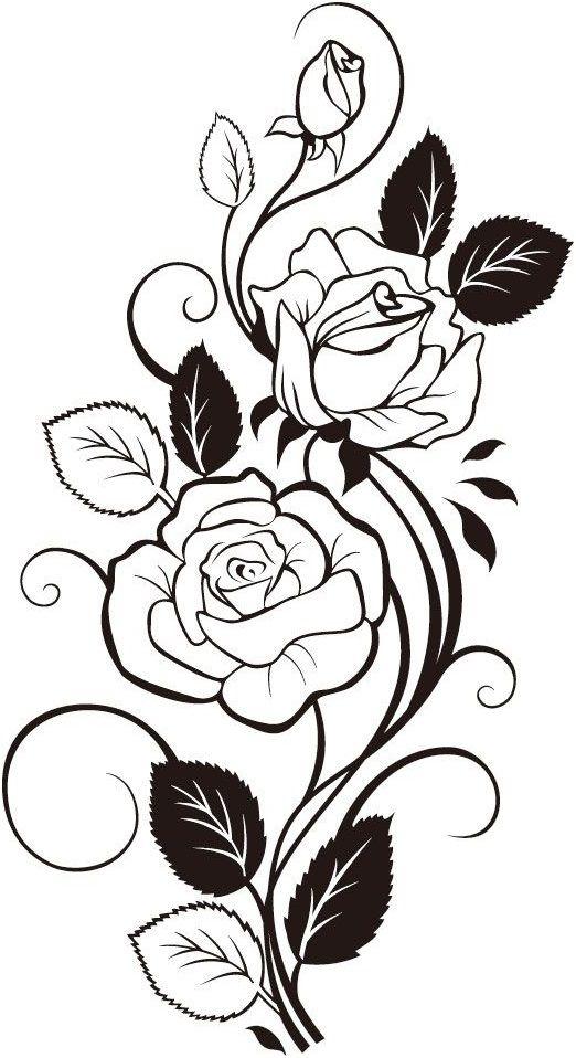 Pattern Flower Drawing With Colour Best 25 Flower Tattoo: Páginas Para Colorir, Tatuagem Vintage