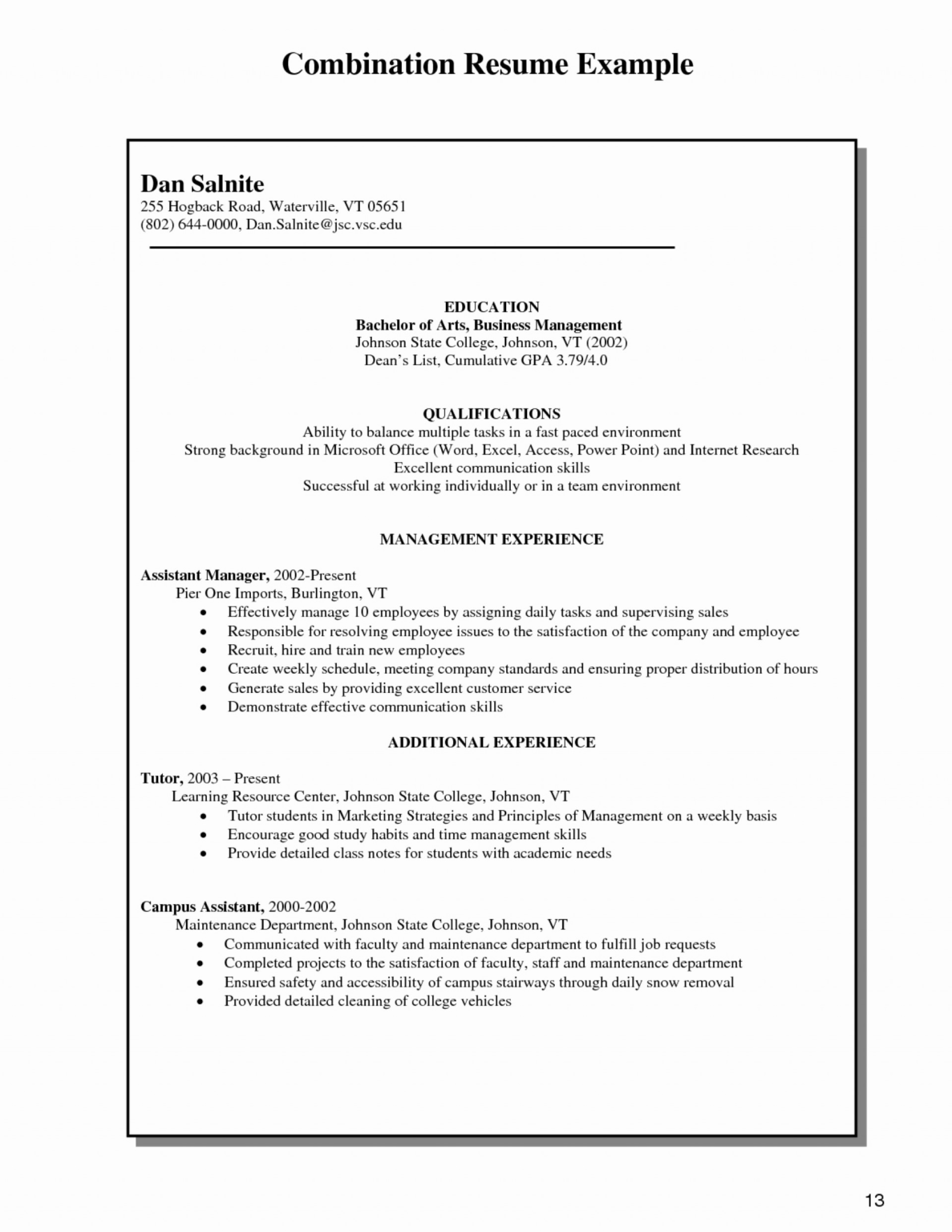 029 Combination Resume Template Word Free Templates 27 1