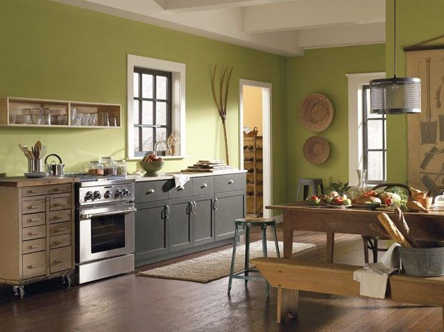 The BEST Kitchen Wall Color For Oak Cabinets | Kitchen Update ...