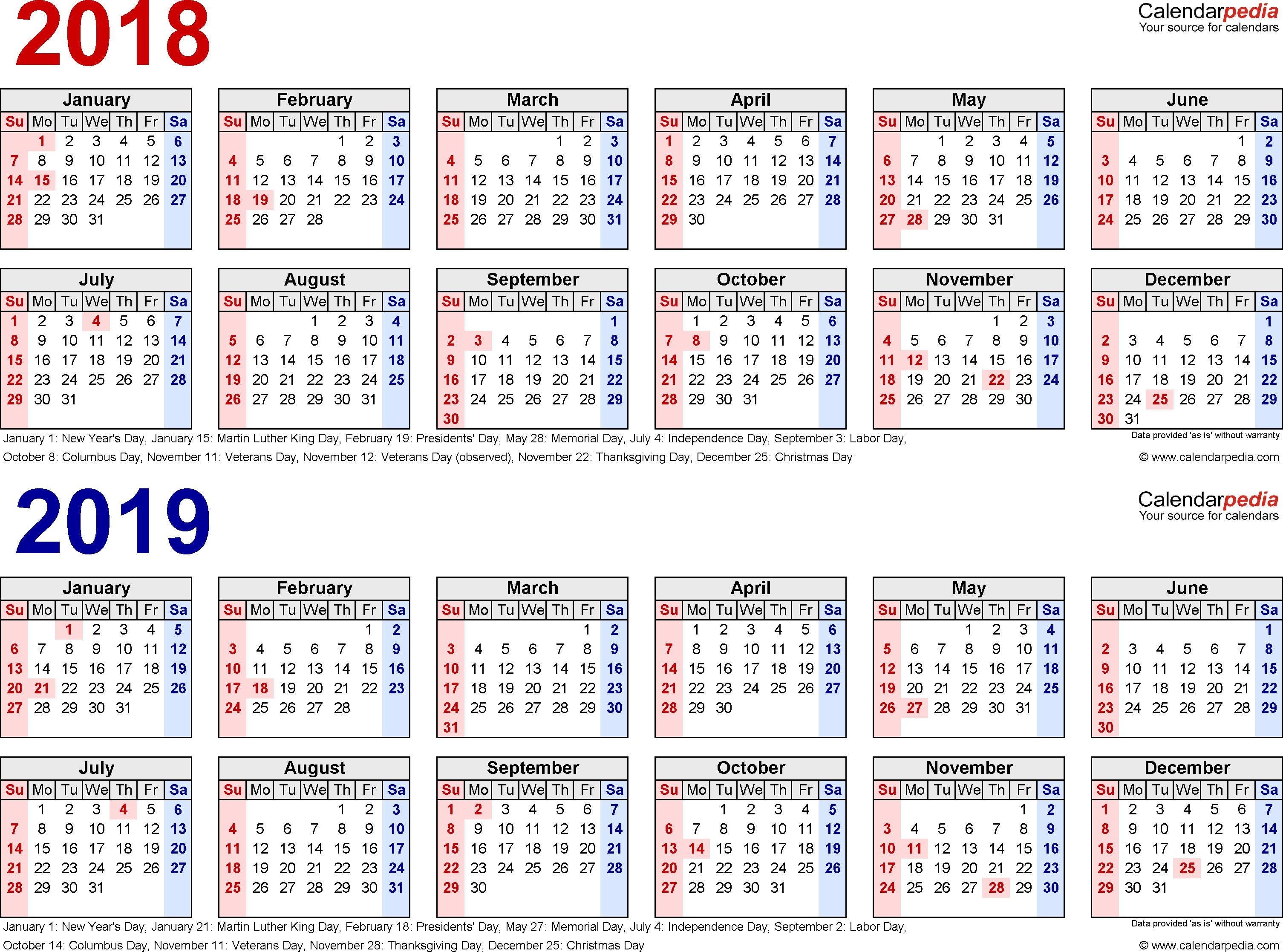 Free Printable 2018 Pay Period Calendars Blank Calendar