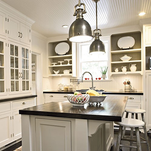 Southern Living Kitchens Glossy White Beadboard Ceiling