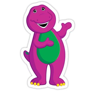 Barney Cartoon Car Bumper Sticker Decal 4/'/' x 5/'/'