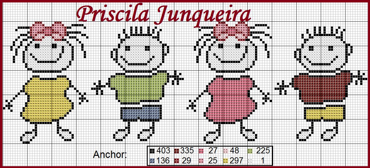 Priscila Junqueira Ponto Cruz | Minie i Mikey 2 | Pinterest | Punto ...