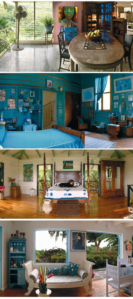 Smokey Blue Bedroom: Turquoise/teal Design Ideas From Haiti. I Love That #Teal