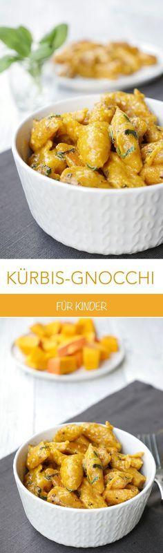 Kürbis-Gnocchi mit Salbeibutter und Parmesan #fallrecipesdinner