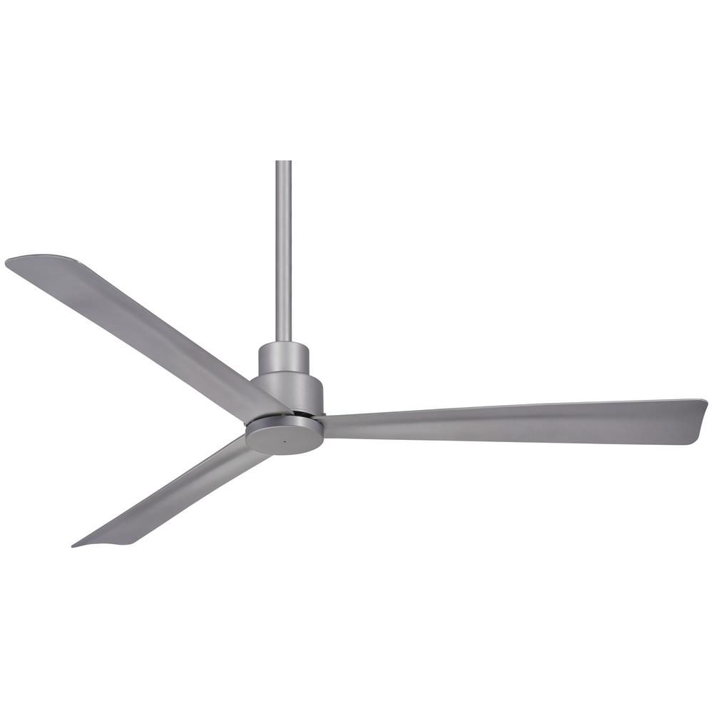 Minka Aire Simple 52 In Indoor Outdoor Silver Ceiling Fan With