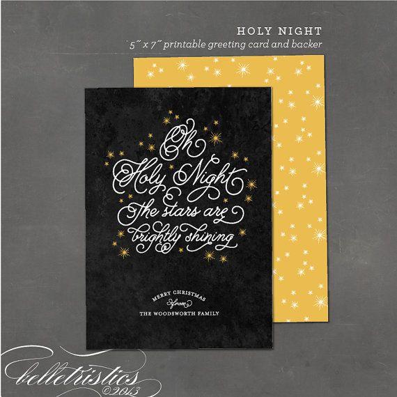 Printable Religious Christmas Card - Printable holiday greeting - printable greeting card templates