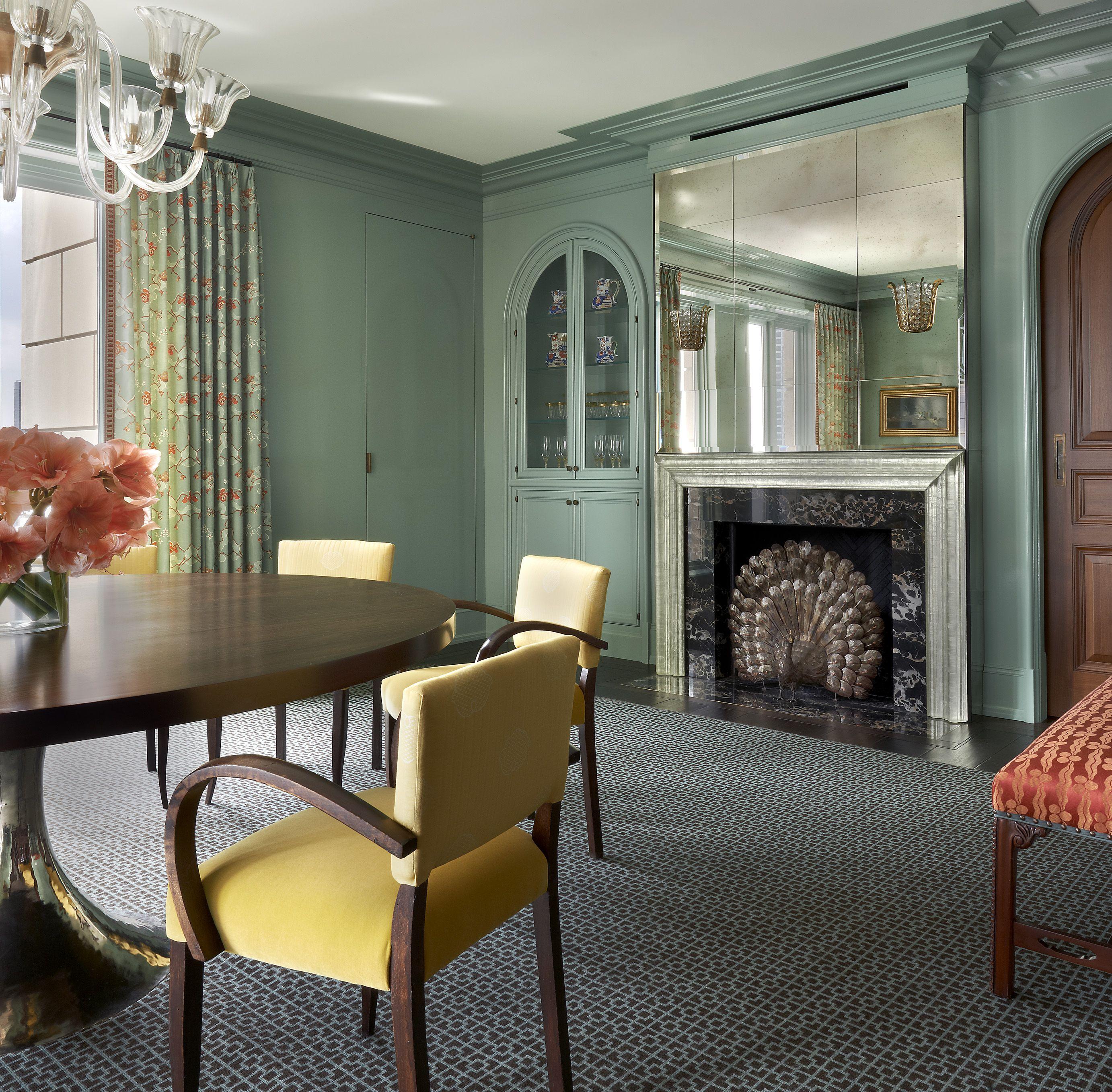 Darcy Bonner Associates Waldorf Astoria Apartment Fireplace