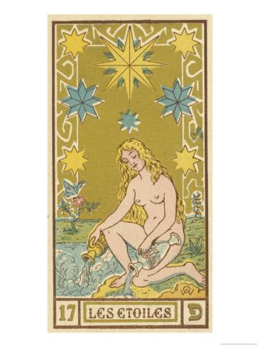 Tarot 17 Les Etoiles The Stars Giclee Print Oswald Wirth Art Com Star Tarot Tarot Cards Art Poster Prints