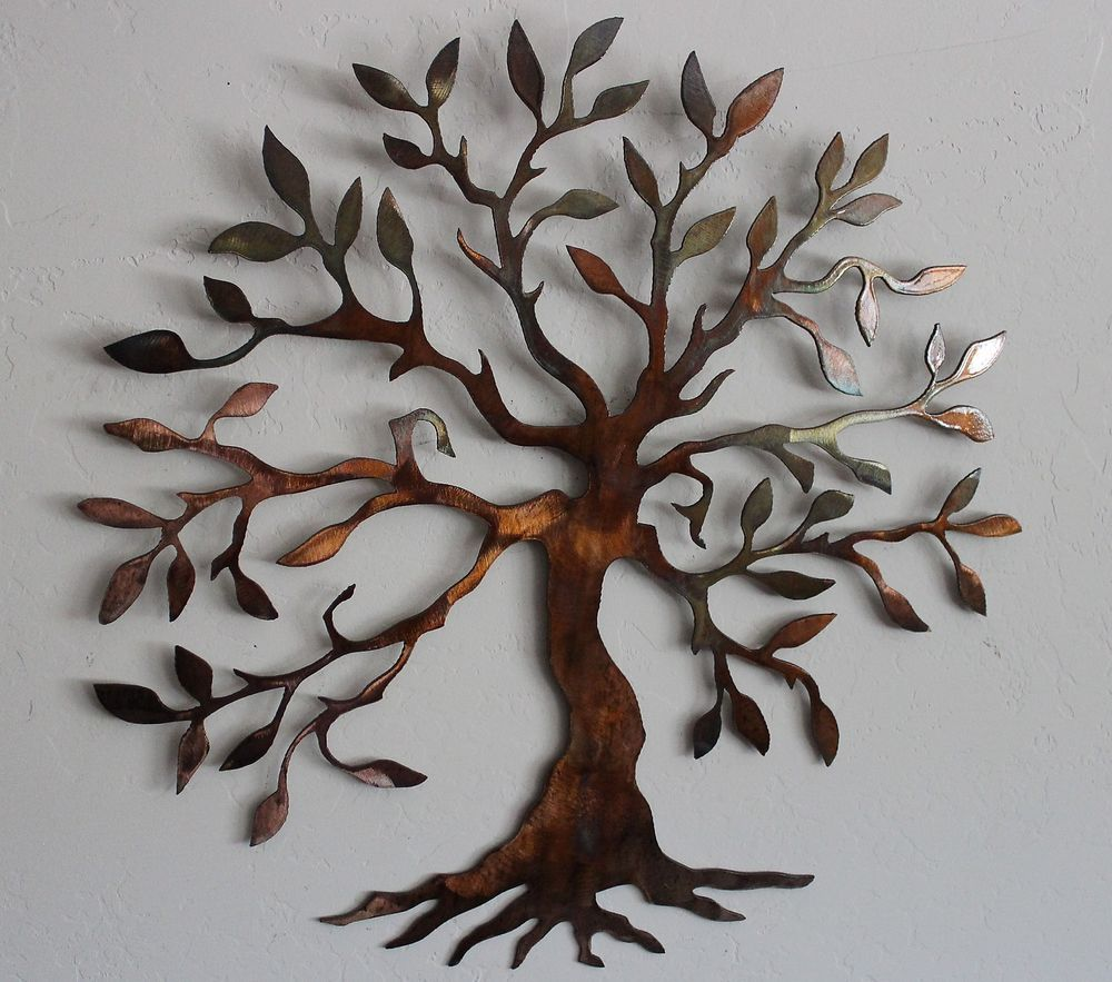 olive tree tree of life metal wall art decor - Metal Tree Wall Decor