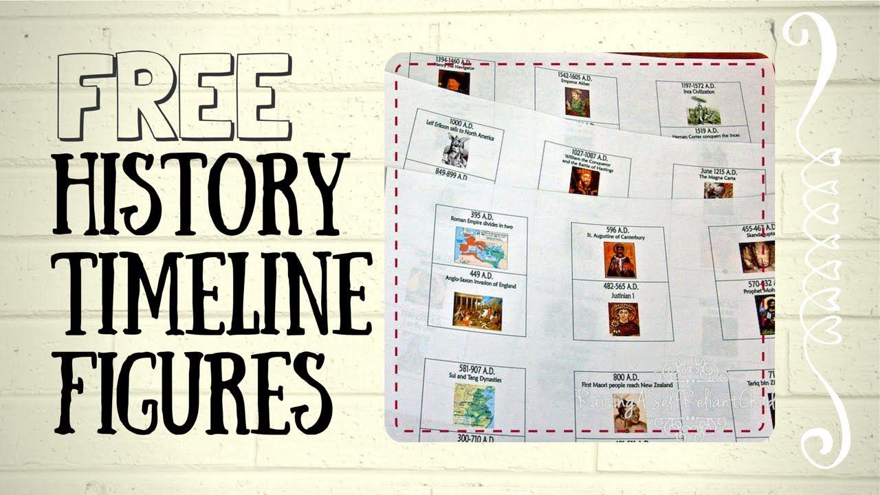 FREE History Timeline Figures for Kids Homeschooling