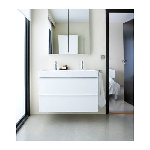 Godmorgon Mirror Cabinet With 2 Doors 23 5 8x5 1 2x37 3 4 Ikea Bathroom Cabinets Ikea White Bathroom Cabinets Small Bathroom Remodel