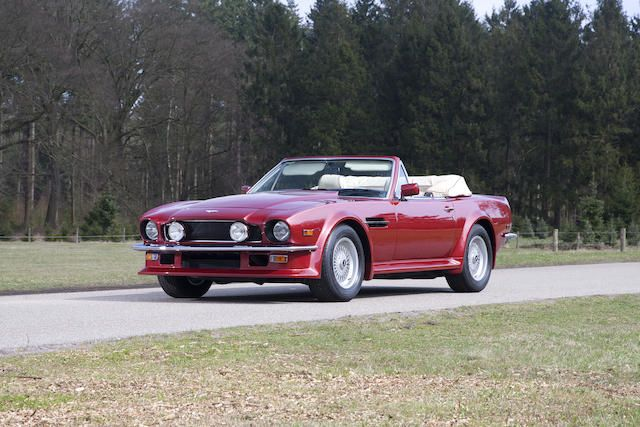 1988 Aston Martin  V8 Vantage Volante 'Series 2' Convertible  Chassis no. SCFCV81V9JTL15663 Engine no. V/580/5663/LFA